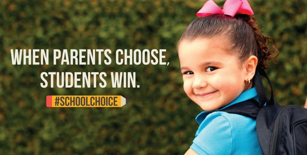 Little Girl School Choice Banner